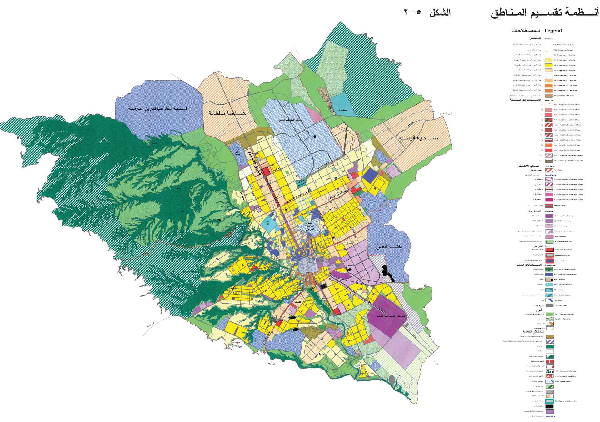 Riyadh MEDSTAR - Land Use Plan Zoning Plan - Riyadh, Saudi Arabia - Urban Planning